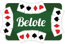 Jeu cartes belote